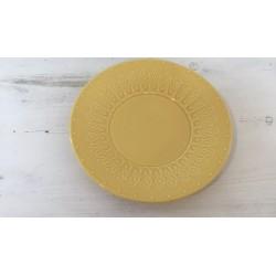 Prato amarelo 21,5 cm...