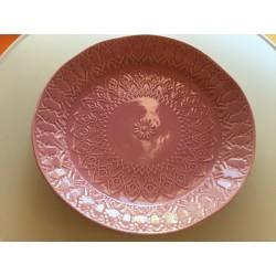 Prato grande fundo rosa...