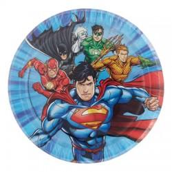8 pratos 17 cm Justice League