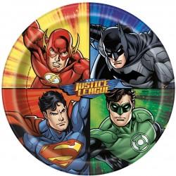 8 pratos 22 cm Justice League