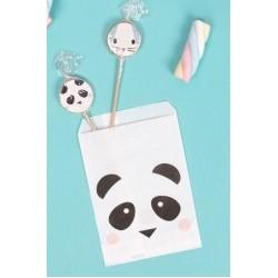 10 sacos papel mini panda