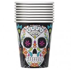 8 copos Caveira Mexicana 270ml