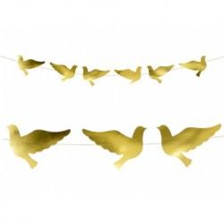 Grinalda de pombas douradas...