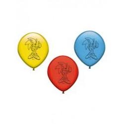 8 balões latex sonic