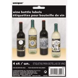 4 rótulos para garrafas...