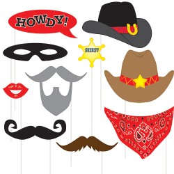 10 Photo Booth Props Western