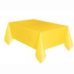 Toalha plástica amarela...