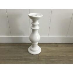 Castiçal de Cerâmica Branco