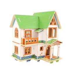 Puzzle 3D casa de Madeira