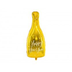 Balão foil garrafa dourada...