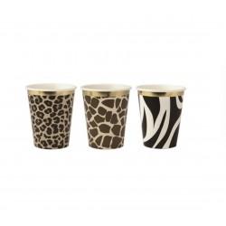 9 copos 255 ml sortidos safari