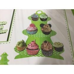 suporte para bolos verde...