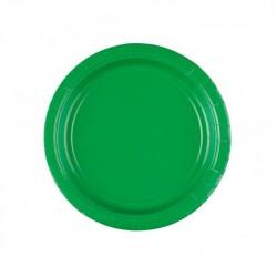 8 pratos 17,7 cm verde papel