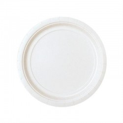 8 pratos 17,7 cm branco papel