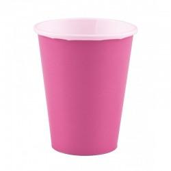 8 copos 266 ml rosa choc papel