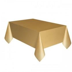 Toalha plástico dourada...