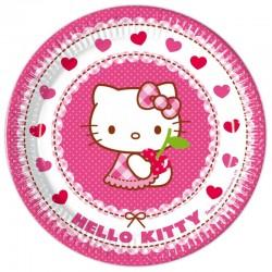 8 Pratos Hello Kitty...