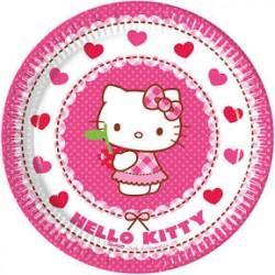 8 Pratos 20cm Hello Kitty...