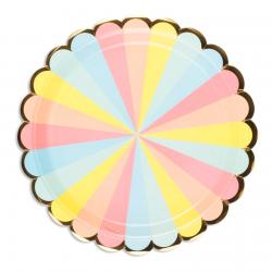 8 pratos 23cm candy pastel
