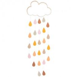 Decoração nuvem com gotas