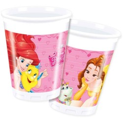 8 copos plástico princesas...