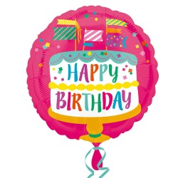 Balão Happy Birthday cake...