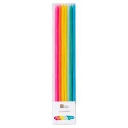 16 velas altas arco-íris