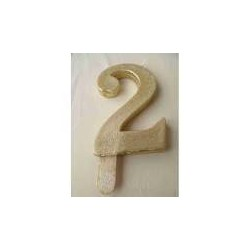 Vela Nº2 13cm Dourado