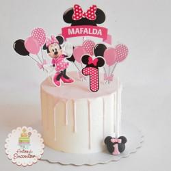 Bolo Minnie em drip cake