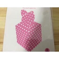 Caixa rosa bolinhas brancas...