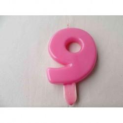 Vela N 0 9.5cm Rosa