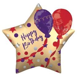 Balão Estrela Happy...