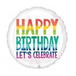 Balão Happy Birthday Arco...