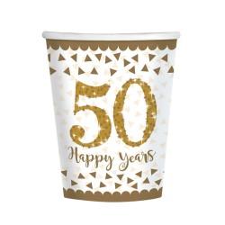 8 copos papel 50 Happy...