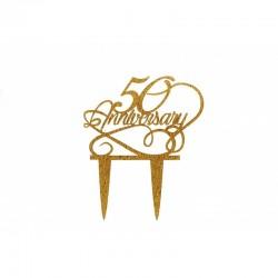 Cake Topper 50 Aniversary...