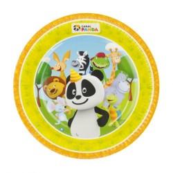 8 pratos canal Panda 23cm