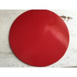 Prato nº30 vermelho