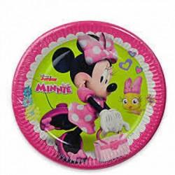 8 Pratos 23cm Minnie Happy...