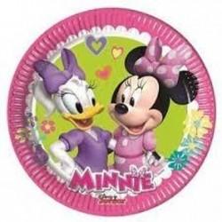 8 Pratos 20cm Minnie Happy...