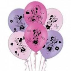 6 Balões Latex Minnie 27.5cm
