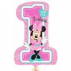 Balão 1st Birthday Minnie