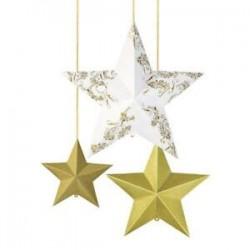 Decoração Conj. 3 estrelas...