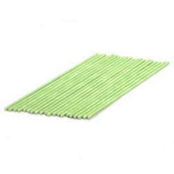 22 palitos cakepos verdes 15cm