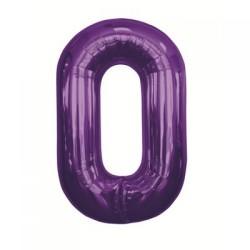 Balão Foil 34 Nº 0 Roxo