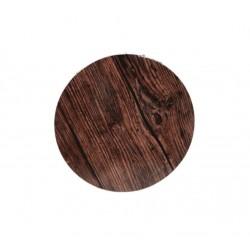 Base redonda madeira escura...