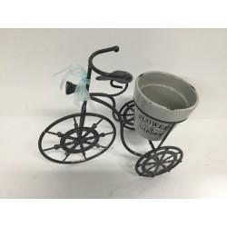 Bicicleta metal c/ vaso...