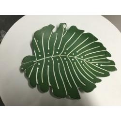 Prato folha madeira verde...
