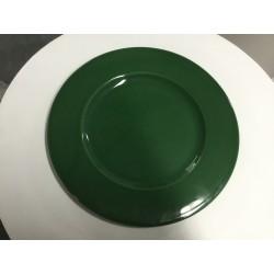 Prato loiça verde 32 cm...