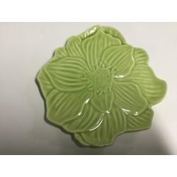 Prato loiça verde flor 22cm...