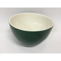 Taça loiça verde e branco...